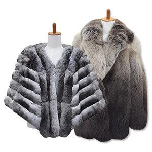 フォックスの毛皮コートとチンチラの毛皮ショール買取