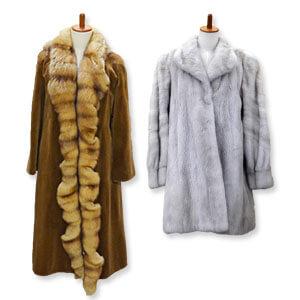 毛皮コートのセーブルとサファイアミンク