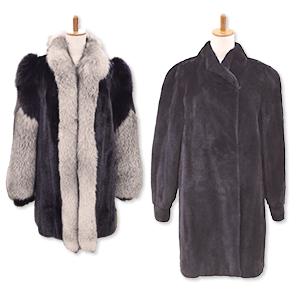 シェアードミンクとフォックスの毛皮コート買取