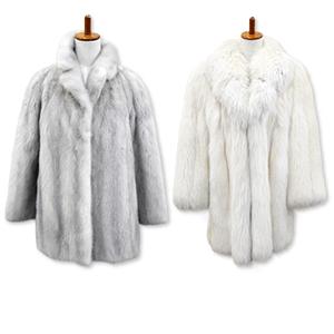 フォックスとミンクの毛皮コート