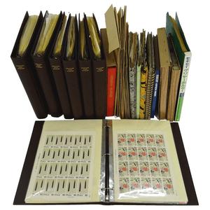 種類別に細かくジャンル分けされていた切手。数量多く買取価格は