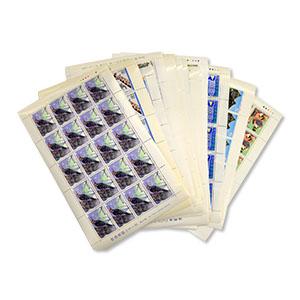 バラの切手とシート状の切手を複数買取