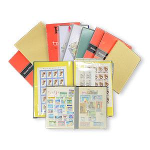 切手が納められたスタンプブック11冊