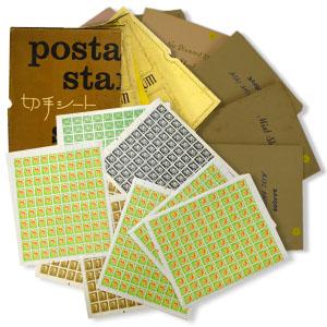 100枚綴りのシート切手を大量に納めたスタンプブック10冊