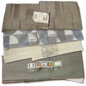 未着用証紙付きの塩沢紬や複数の着物買取