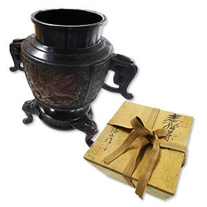 高岡銅器と茶器を買取