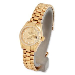 ロレックスのデイトジャスト10ピースダイヤ入りの時計を高価買取